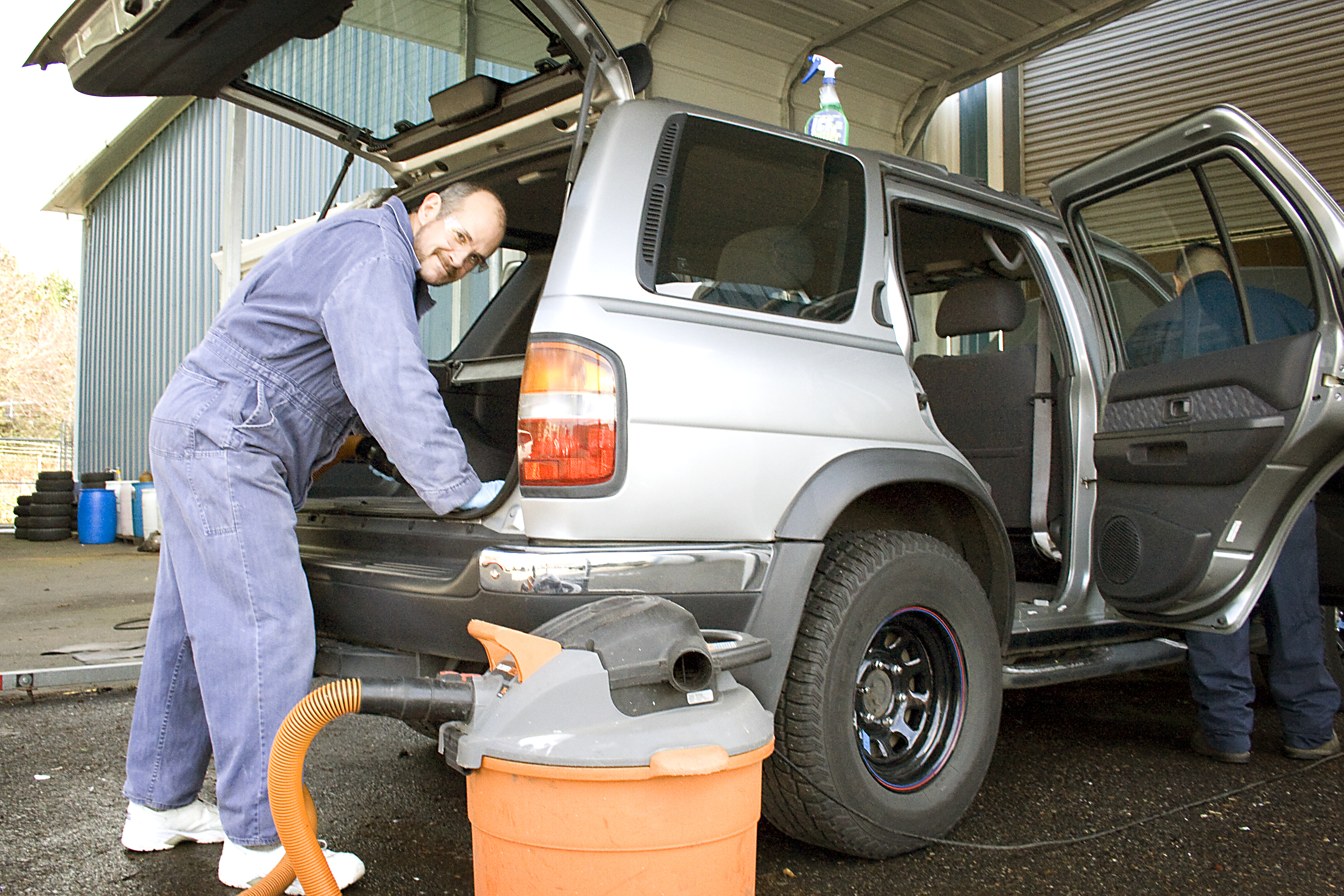 Men in our recovery program learn valuable job skills while repairing donated cars for resale.