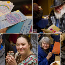 Homeless guests enjoy cupcakes and cards at our Birthday Party for the Homeless.