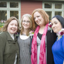 Ann, Danielle, Maria and Erin celebrate new life at the Shepherd's Door graduation.