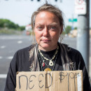 Homeless Portland woman, Portland Rescue Mission
