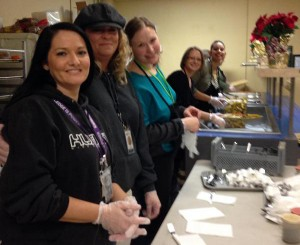 Once a month, the ladies from Shepherd's Door serve down at our Burnside Shelter.