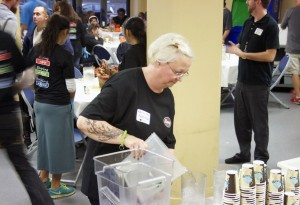 "Melissa Adams, Marketing Coordinator for Harry's Fresh Foods, serves at our annual ""Serving Hope"" event."