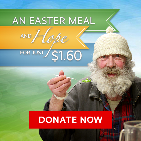 Easter Meal for Hungry Homeless People - Just $1.60