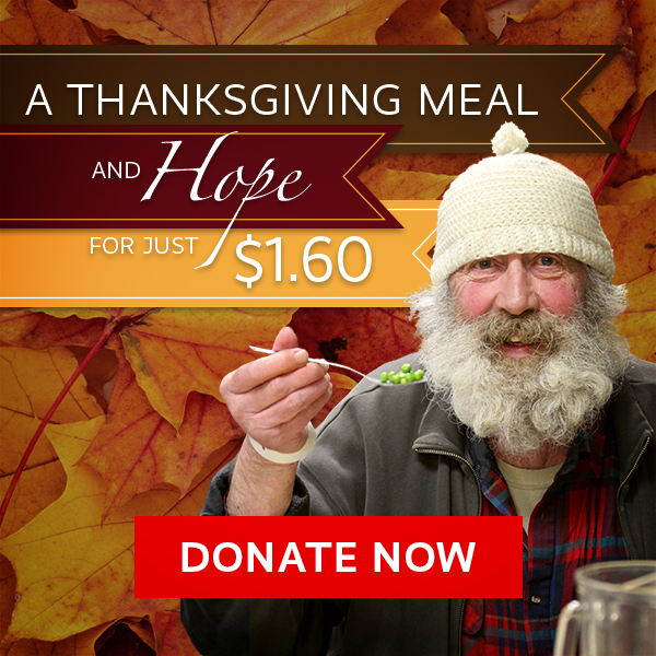 Thanksgiving Meal for Hungry Homeless People - Just $1.60