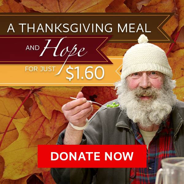 Donate Thanksgiving meals to hungry, homeless people in Portland